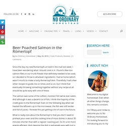 Romertopf Beer-poached Salmon