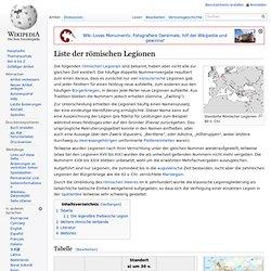 Liste der römischen Legionen