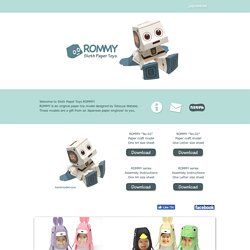 ROMMY --Sloth Paper Toys--