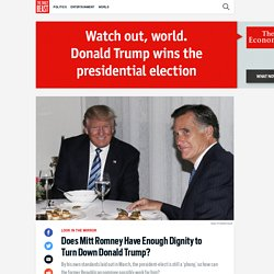 Does Mitt Romney Have Enough Dignity to Turn Down Donald Trump?