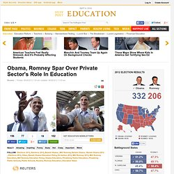 Obama, Romney Spar Over Private Sector's Role In Education