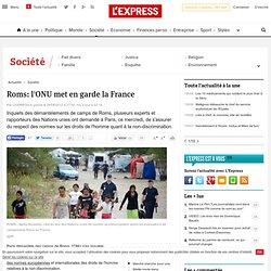 Roms: l'ONU met en garde la France