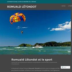 Romuald Létondot et le sport – Romuald Létondot
