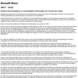 Ronald ROSS 1857 - 1932
