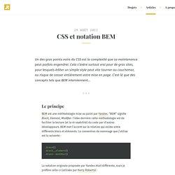 Ronan Levesque – CSS et notation BEM