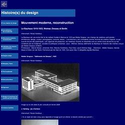 Ronankerdreux : Histoires du Design - Mouvement moderne, reconstruction