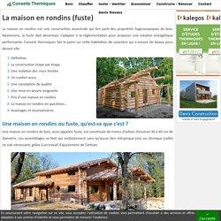 Maison en rondins ou fuste : écologique et confortable