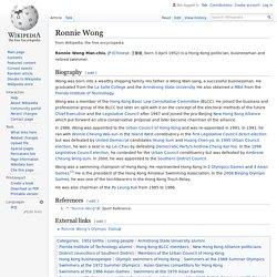 Ronnie Wong - Wikipedia