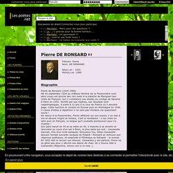 Pierre de RONSARD : sa biographie et ses oeuvres