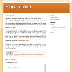 Benefits of hiring roofing contractors like Hippo Roofing