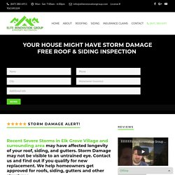 Roofing Company Elk Grove Village - Storm Damage? Insurance will Pay!