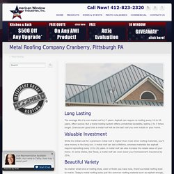 roofing pittsburgh