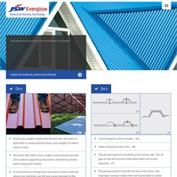 Roofing Sheets Installation - JSW Everglow