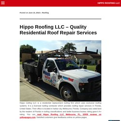 Hippo Roofing LLC – Quality Residential Roof Repair Services Hippo Roofing LLC