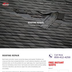 Roofing Repair Services - Roofing Lexington KY