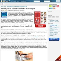 Rooflights An Ideal Sources of Natural Lights by Easier Online
