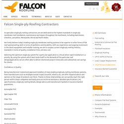 Falcon Roofline - Single-Ply Roofing Specialists