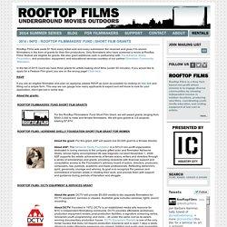 Rooftop Films 2014 Summer Series