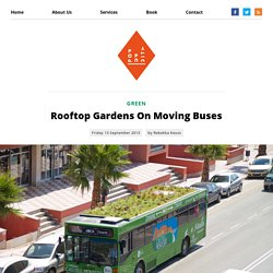 Rooftop Gardens On Moving Buses