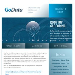 Rooftop Geocoding - Go Data