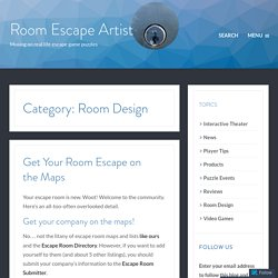 Room Design – Room Escape Artist