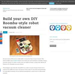 Build your own DIY Roomba-style robot vacuum cleaner