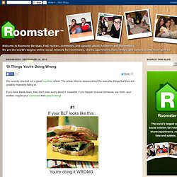 Roomster Reviews: 10 Things You're Doing Wrong