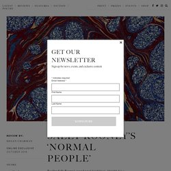 Sally Rooney's 'Normal People' - The White Review