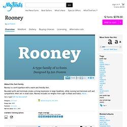 Rooney font family