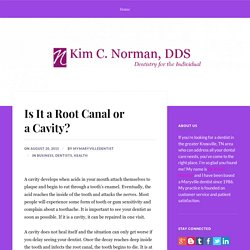 Is It a Root Canal or a Cavity?