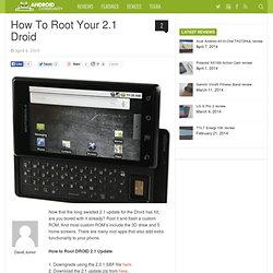 How To Root Your 2.1 Droid