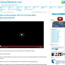 How to Root Galaxy Tab 10.1 the Easy Way!