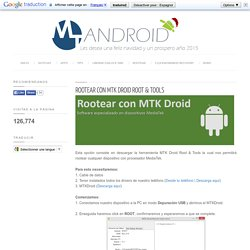 Rootear con MTK Droid Root & Tools