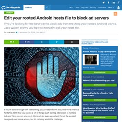 Edit your rooted Android hosts file to block ad servers