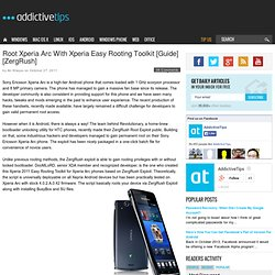 Root Xperia Arc With Xperia Easy Rooting Toolkit [Guide] [ZergRush]