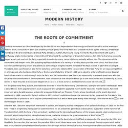 THE ROOTS OF COMMITMENT - The Coming of the Third Reich