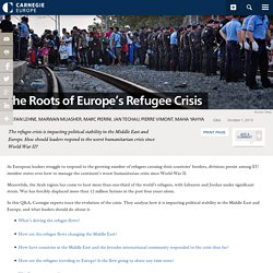 The Roots of Europe's Refugee Crisis