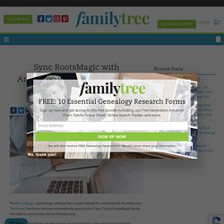 Sync RootsMagic with Ancestry.com in 5 Steps Using TreeShare