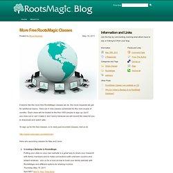 Blog » More Free RootsMagic Classes