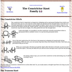 Roper's Knot Pages - Hitches - Constrictor knot