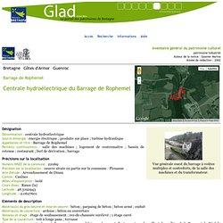Guenroc, Barrage de Rophemel, Centrale hydroélectrique du Barrage de Rophemel