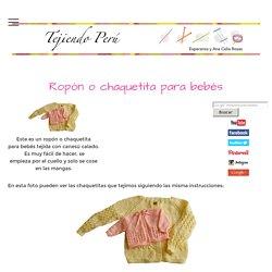 Ropón o chaquetita para bebé - Tejiendo Perú