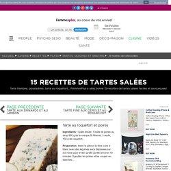 Tarte au roquefort et poires : 15 recettes de tartes salées