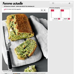 Le tout vert à la roquette - Gâteaux au yaourt : enfin des recettes originales !