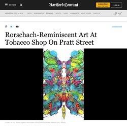Rorschach-Reminiscent Art At Tobacco Shop On Pratt Street