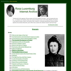 Rosa Luxemburg Library