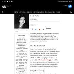 Rosa Parks - Life, Bus Boycott & Death