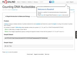 Counting DNA Nucleotides