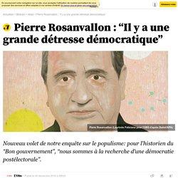 """Pierre Rosanvallon : """"Il y a une grande détresse démocratique"""" - Bibliobs"""
