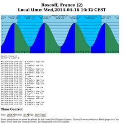 Marees -Roscoff - jusqu'en 2037